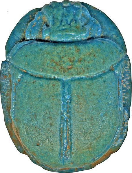 scarabée en turquoise Egyptien