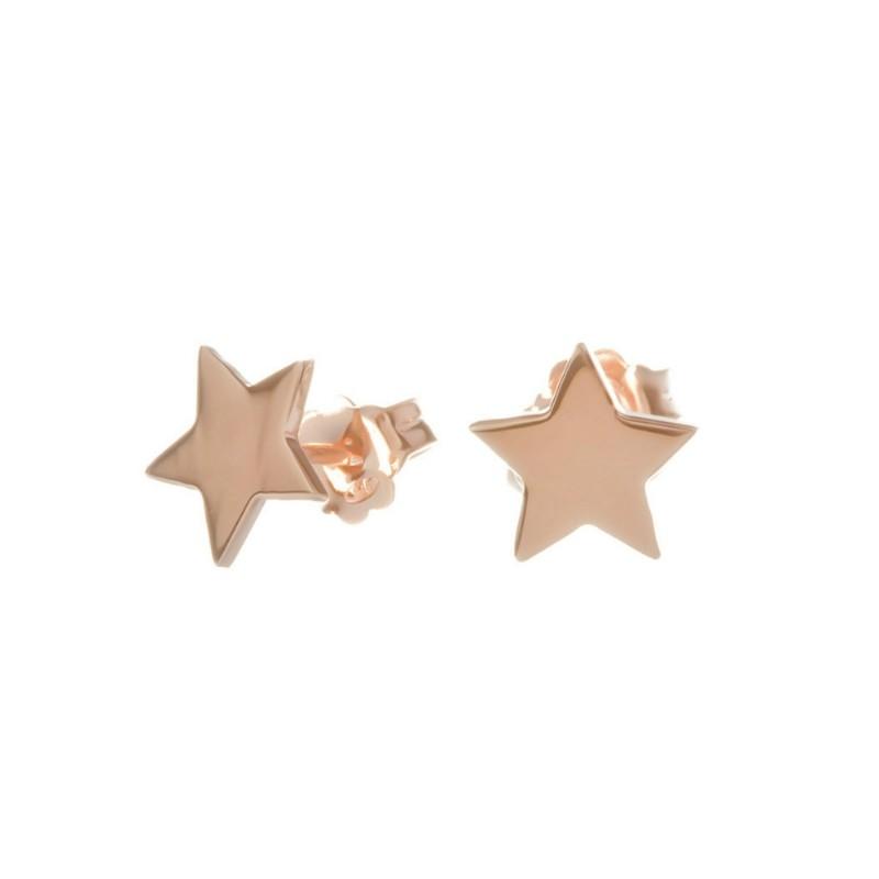 Boucles d'oreilles étoile or rose