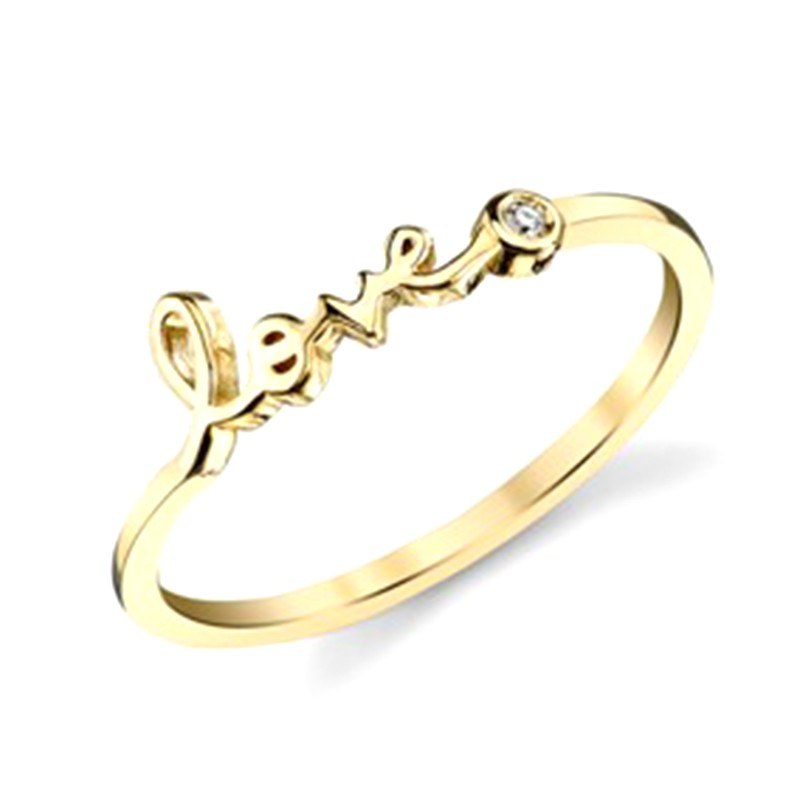 Bague Love Diamant Or jaune